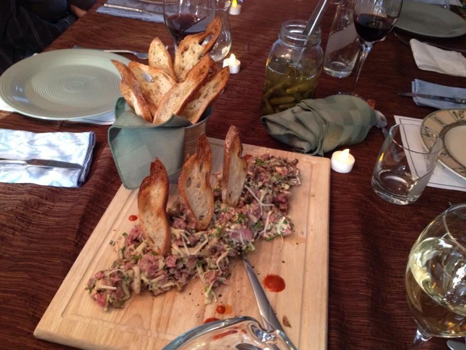 Tartare de boeuf,champignons